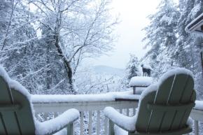 Snowfall in Blue Ridge GA 2014